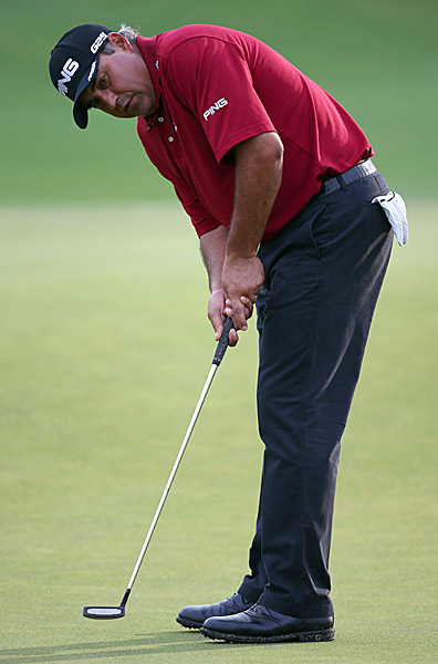 Angel Cabrera, who finished second to Adam Scott at the Masters, shot a 65.