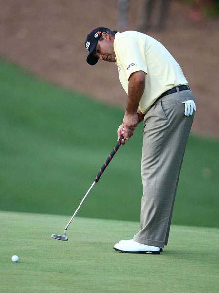 2009                                  Few took notice that Argentina's Angel Cabrera won the Masters with a belly-length putter because he gripped it normally and didn't anchor the club against his stomach.