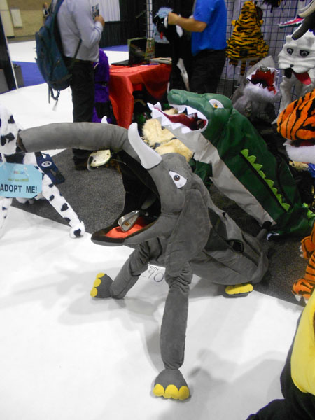 One of the more amusing spectacles on the show floor was this array of animal-themed golf bag slip covers from their website.