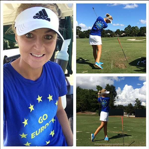 @a_nordqvist Practice in style today... Motivated and Inspired to get after it. Cant wait for Solheim Cup 2015 in Germany!!