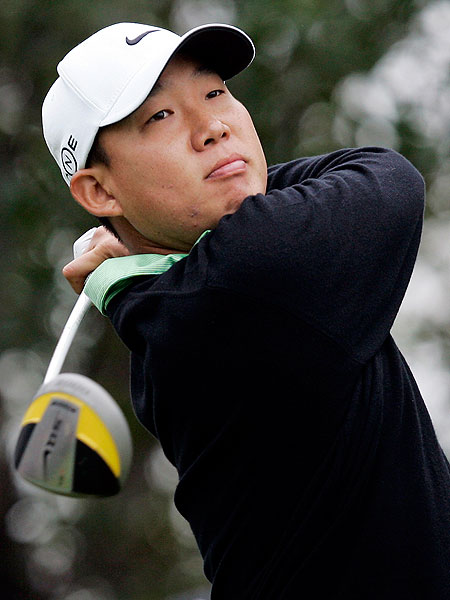 A one-over 73 dropped Anthony Kim into a tie for 13th.