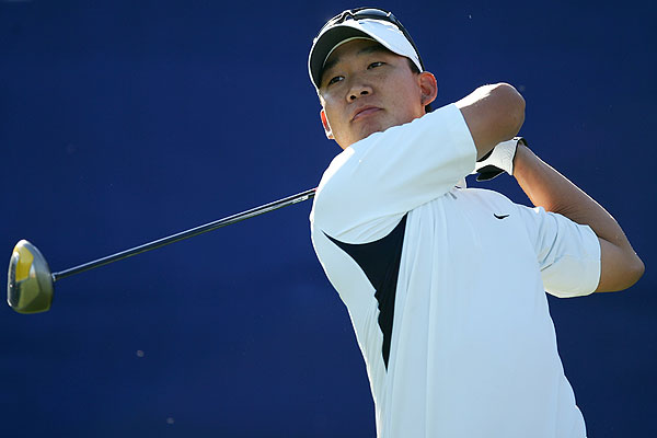 Anthony Kim starts straighter                       During the off-season, the former University of Oklahoma star Anthony Kim seems to have figured out how to hit his powerful tee shots a little straighter. Kim, who tied for third place at the Hope, hit 71.01% of the fairways last week, an improvement of almost 11% over his 2007 average (60.79%). Kim was also one of three players to shoot all five rounds in the 60s last week.