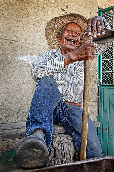 "At age 78, Aristeo Garcia is the oldest member of the Campestre grounds crew. Garcia worked in construction before starting at Campestre 10 years ago. He says he's always had a job that requires him to use his hands. Despite being 26 years older than his boss, he still calls Miguel Angel Viveros ""Dad."""
