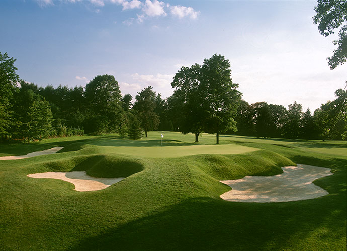 "8. Aronimink Golf Club, Newtown Square, Pa. (private): Twenty years after Ross designed Aronimink, he visited the layout and declared, ""I intended to make this course my masterpiece, but not until today did I realize I built better than I knew."" Set into a rolling, wooded tract in suburban Philadelphia, Aronimink rose to prominence after hosting the 1962 PGA Championship won by Gary Player."