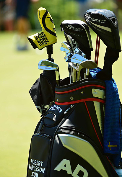 Robert Karlsson plays Titleist Forged 712 MB irons.