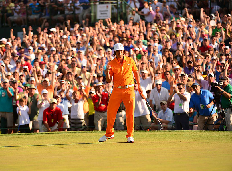 Rickie Fowler birdied the first hole of sudden death to earn the first PGA Tour title of his career.
