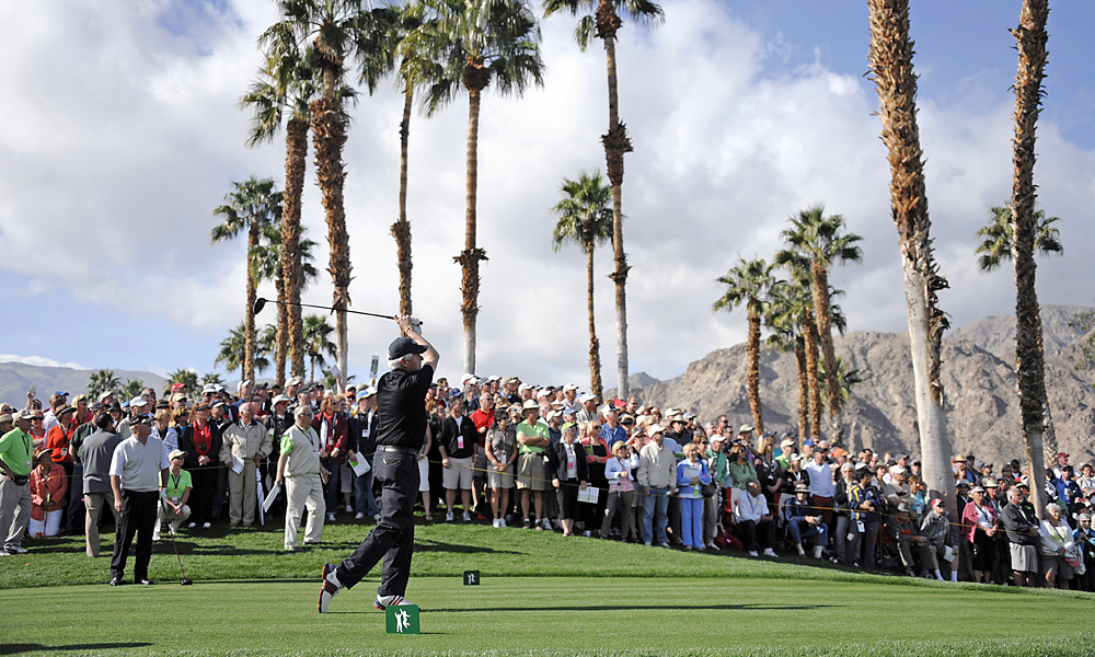 The former president played in the third round at the Palmer Course at PGA West. The Bill Clinton Foundation is one of the sponsors of the Humana Challenge.
