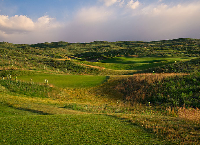 20. Ballyneal Golf & Hunt Club, Holyoke, Colo., No. 7, par-4: Tom Doak carved out one of the wildest, most inspired green complexes anywhere at this 335-yard hole in the prairies of northeastern Colorado. Carry a central fairway bunker and an exaggerated slope to the left will funnel shots towards the target, while a jagged bunker eats into the right side of the E-shaped putting surface.