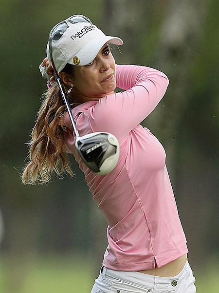 Recari hits a shot during the pro-am prior to the start of the LPGA Brazil Cup at the Itanhanga Golf Club in 2012.