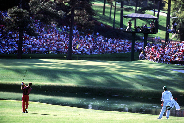 "In 2007, Zach Johnson laid up 16 of 16 times on par 5s during the Masters, won the green jacket and he was universally applauded for his conservative strategy. In the final round at Augusta in 1993, Chip Beck, three shots back at 15, laid up with a five iron when he was on a hanging downhill lie, into the wind and 236 yards from the hole. Beck, who made par and finished four shots behind Bernhard Langer in second place, was universally criticized for allegedly wimping out. ""I didn't want to throw the tournament away with one shot,"" Beck said. ""It was marginal."" Beck's assessment was probably correct and his decision sound, but that won't change how it was viewed."