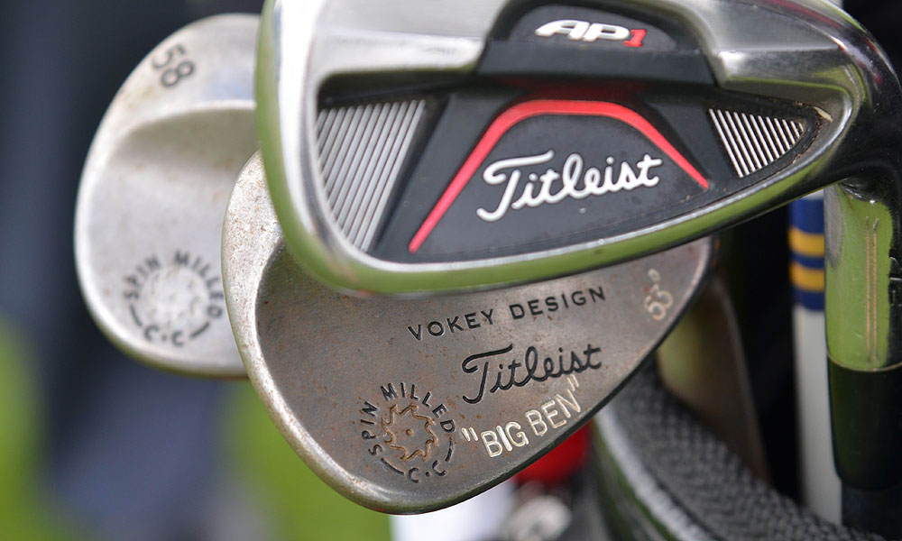 This Titleist Vokey Design Spin Milled wedge doesn't belong to a homesick Englishman, it's Ben Curtis's.