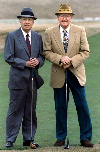 Dallas Morning News photographer David Woo later got Ben Hogan and Byron Nelson together for a photo shoot at Colonial Country Club in Fort Worth. Nelson told Woo this was the only photograph of the men together since the 1940s.