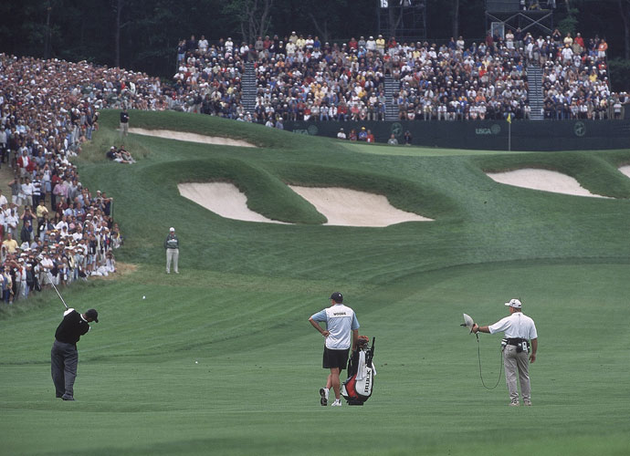 6. Bethpage (Black), Farmingdale, N.Y.                             Championship tees: 7,366 yards, par 71; rating: 76.6, slope: 148                            What a 16 handicapper would shoot: 96                             All you really need to know about Bethpage Black's off-the-charts challenge is printed on a sign behind the first tee: WARNING-THE BLACK COURSE IS AN EXTREMELY DIFFICULT GOLF COURSE WHICH IS RECOMMENDED ONLY FOR HIGHLY SKILLED GOLFERS.
