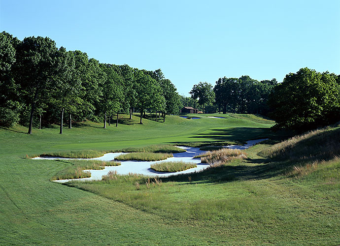 22. Bethpage State Park (Black), Farmingdale, N.Y., No. 5, par-4: The hardest water-less par-4 in America is likely to be found at this A.W. Tillinghast-designed muni, where a valley fairway, dense rough, a massive diagonal splash of sand and a green perched on a plateau 30 feet above the fairway conspire to wreak misery on all who make the climb.