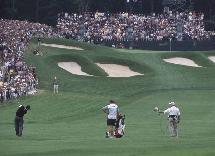 It's been bulked up by a pair of Rees Jones redesigns, but Tillinghast deserves the lion's share of the credit for the Bethpage State Park Black Course in Farmington, N.Y. It's where Tiger Woods (left) edged Phil Mickelson for the 2002 U.S. Open title and Lucas Glover won in 2009. It's set to host the 2019 PGA Championship and 2024 Ryder Cup.