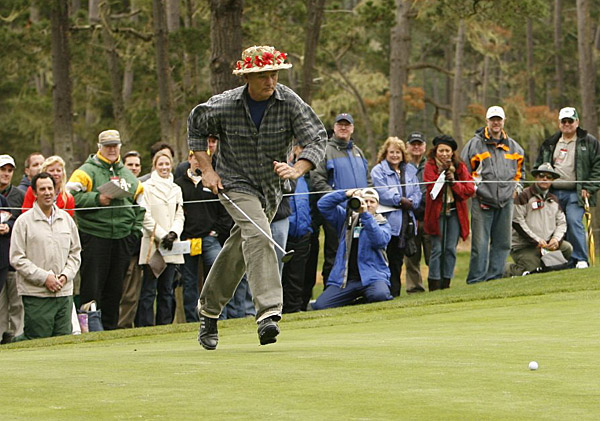 has become the Crown Prince of the pro-am. The Caddyshack star chased down a putt at Pebble Beach in 2007.