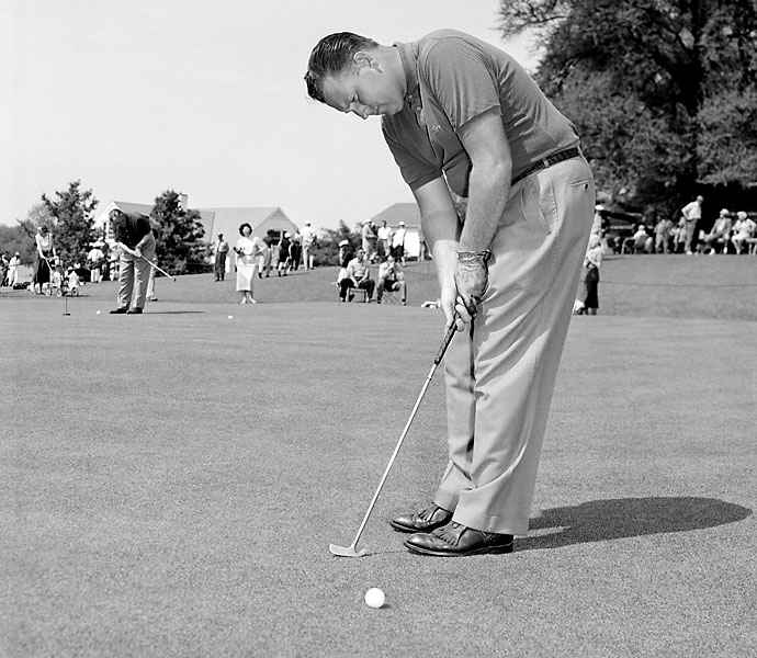 """No. 6: Billy Casper                             Playing Career: 1954-1989                             """"Casper was born among greats,"""" notes Top 100 Teacher Eddie Merrins. """"He was a product of San Diego's proving ground of champions in the 1950s and 60s that included Mickey Wright, Gene Littler and Phil Rodgers. It's no surprise he won 51 Tour events, especially when you look at his stroke."""" Casper never deviated from his carefully plotted pre-shot routine, and like Dave Stockton who followed, spent little time fretting over his read and his mechanics."""