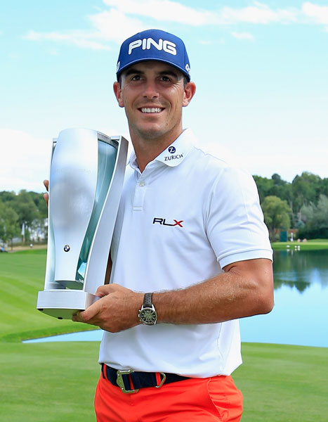 Billy Horschel won the BMW Championship on Sunday, shooting a 1-under 69 to hold off Bubba Watson for a two-shot victory and second place in the FedEx Cup standings heading into the series finale at East Lake.