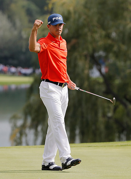 Horschel's round included seven birdies and no bogeys.
