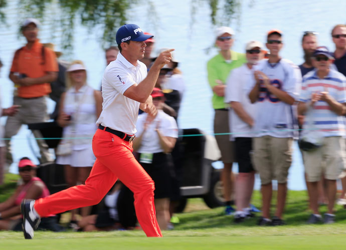 After reaching the 18th green, Horschel sprinted through the crowd to use a nearby bathroom before tapping in to secure the win.
