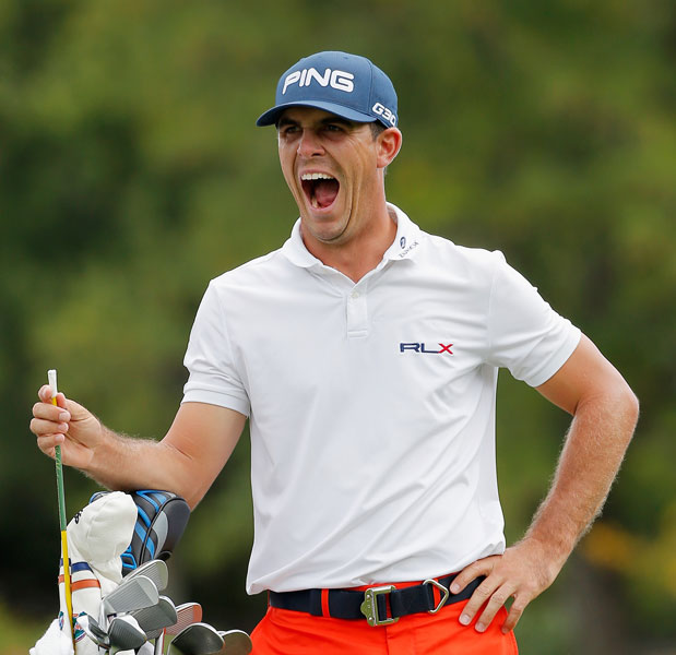 "Horschel sneaks a yawn early in his round. The win, his second on the PGA Tour, comes a week after he squandered a shot at the Deutsche Bank title with a final-hole chunk, a mistake Horschel was eager to put behind him. ""Obviously, after last week, a lot of people on Twitter were calling me a choker,"" Horschel said after his round. ""I didn't choke. I made one bad swing at a bad time. To start with a three-shot lead today and hold on means a lot."""