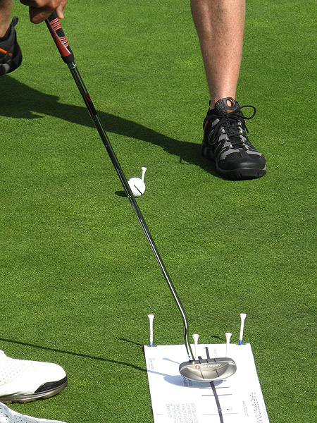 Bio Kim honed his putting stroke by aiming for a golf tee instead of a hole.