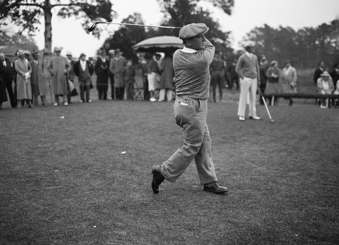 Bobby Cruickshank Bobby Cruickshank led the 1934 U.S. Open by two shots at Merion Golf Club. On the 11th hole, his tee shot landed in a creek but hit a rock and bounced on to the green. Cruickshank threw his club in the air in elation, only to have it come down on his head. Dazed by the injury, Cruickshank finished poorly and lost by two shots to Olin Dutra.