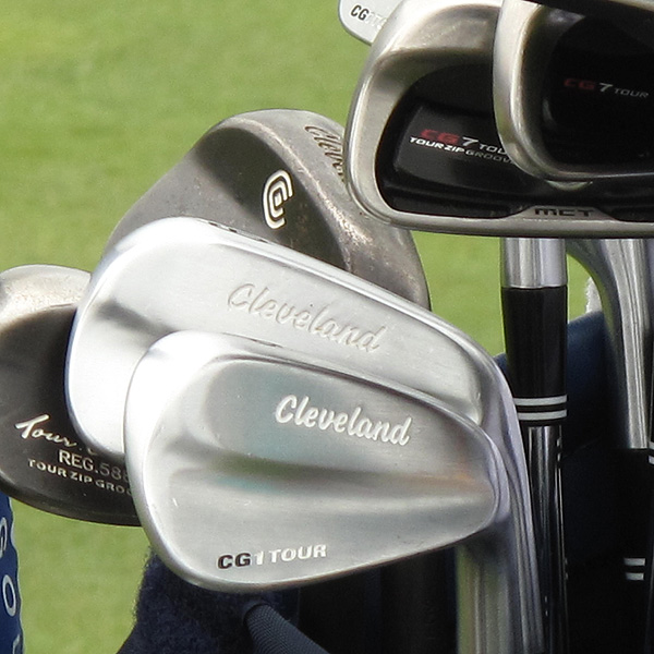 plays Cleveland CG7 Tour long irons and CG1 Tour short irons