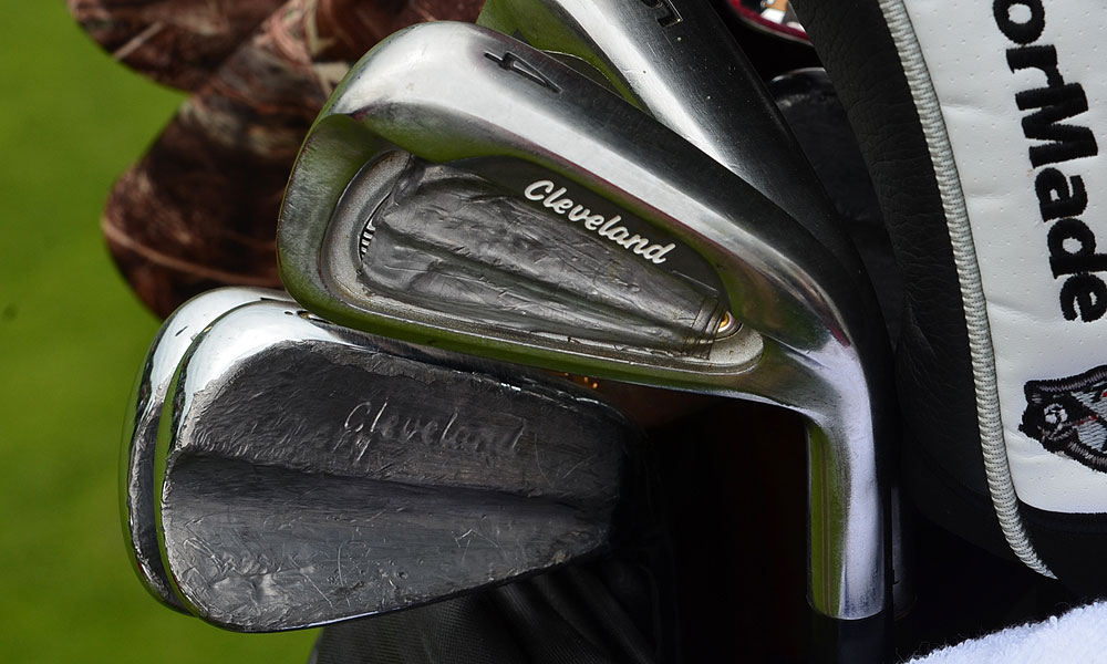 Boo Weekley's Cleveland irons are loaded with lead tape.