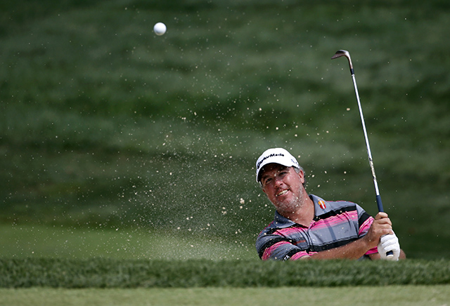 Boo WeekleyAfter completing eight holes on Friday, Weekley withdrew from Valhalla due to a shoulder injury.