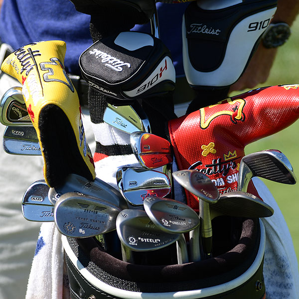 Brendan Steele spent time during his practicing rounds testing some new equipment, including Titleist's yet-to-be-released SM4 wedges. He plays the company's 710 MB irons.