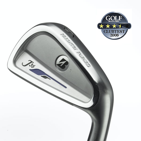 "Bridgestone J36 Cavity Back                            $799, steel                             bridgestonegolf.com                                                      We tested: 3-PW in Rifle Project X Flighted steel shaft. Shaft length/loft (6-iron): 37.25""/31°                                                       Company line: ""Forged from 1020 mild carbon steel, for the ultimate in soft feel. The U-grooves provide spin and distance control. Progressive ""muscle cavity"" height— thinnest in 3-iron, thickest in PW— creates a descending weight concentration so the greatest amount of feel and control are in the short irons.""                                                       Our Test Panel Says:                            PROS: Instantaneous feedback— shots struck on the sweet spot stimulate the senses; a beautiful iron for the precise player; capable performers from a variety of conditions; wonderful balance; better players will be magical with these; par savers for sure on chip shots; incredibly responsive clubs; good contact feels like the ball sinks into the club and stays on the face.                                                       CONS: Least-forgiving iron tested; severely punishes wobbly swings; shortest carry distance on center hits.                                                       ""An exacting, accurate set geared for the pure ballstriker."" — Barry Fasenmyer (4)                                                      Rate and Review this club"