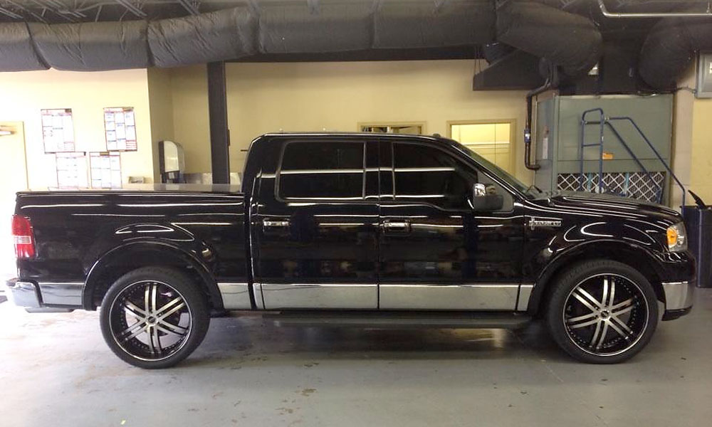 Brittany Lincicome's truck with custom rims