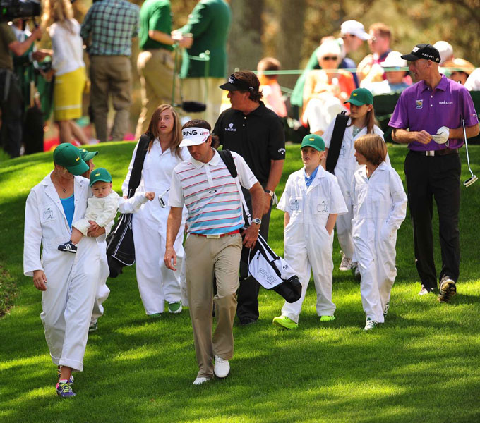 Watson picked up the slack for his caddies.