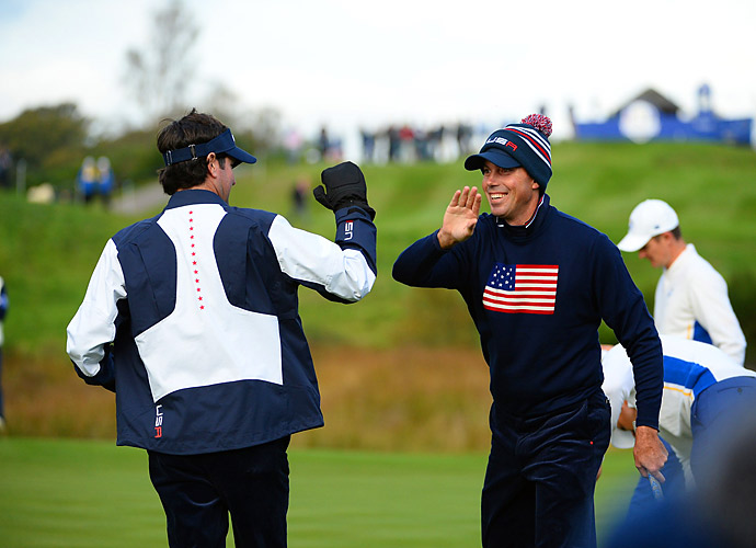 Bubba Watson and Matt Kuchar played well Saturday morning, but they ran into a buzzsaw in the team of Henrik Stenson and Justin Rose.