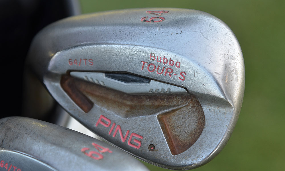 The 2012 Masters champ also had two 64-degree Ping Tour-S wedges in his bag before his practice round Tuesday.