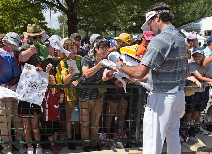 Bubba Watson shot a 3-over 73 and was even par after two rounds.