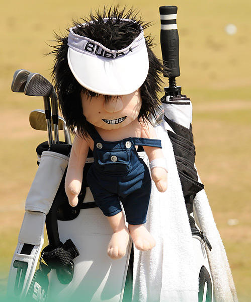 Bubba Watson's Ping gear is protected by a headcover that's reminiscent of their owner.