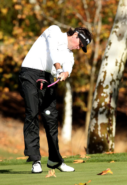 Bubba Watson three-putted the 18th to fall four shots back of Woods for the lead.