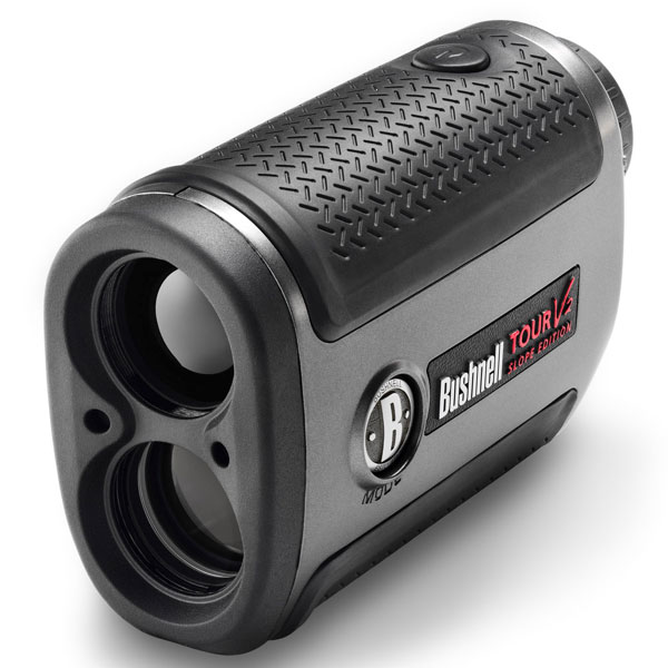 Bushnell V2 Laser Rangefinder with Slope                           bushnellgolf.com, $399                           On the days leading up to a tournament, it's common to see golfers and caddies using laser rangefinders during pro-ams to learn exactly how far hazards, trees and likely hole locations are from spots in the fairway. The new Bushnell Tour V2 not only gives accurate distances, but it also calculates how much you need to compensate for uphill and downhill targets.