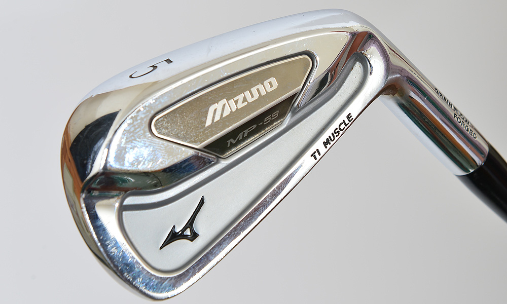 Here is a close-up look at Byrd's Mizuno MP-59 5-iron. Byrd has True Temper Dynamic Gold Tour Issue shafts in all his irons.