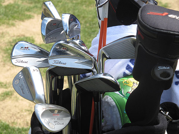 from Spain uses old-school Titleist blades.