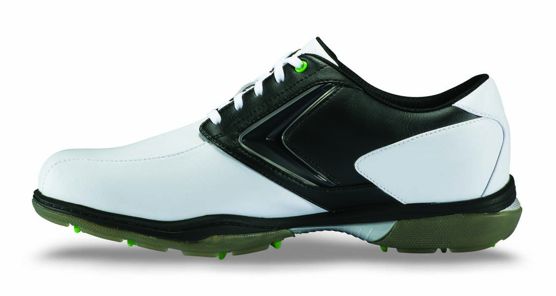 CALLAWAY COMFORT TRAC, $120; callawaygolf.com                       Not only does the spikeless Comfort Trac come with a two-year limited waterproof warranty, it also comes with a 30-day fit, comfort and cushioning guarantee. Also included: a foam padded tongue and collar.