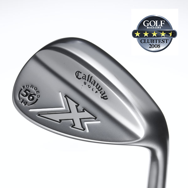 "ClubTest 2008: Wedges                           GOLF Magazine asked players just like you to try and rate some of the newest wedges hitting pro shop shelves. See which was their favorite.                                                      Callaway X-Forged (White Chrome)                            $109, steel                            callawaygolf.com                                                      We tested: 48°/10° (loft/bounce), 50°/12°, 52°/12°, 54°/14°, 56°/14°, 56°/14° MD, 58°/9° MD, 58°/10° MD, 60°/9° MD, 60°/10° MD, 62°/9° MD, 64°/9° MD in Callaway wedge steel shaft                                                      Company line: ""Forged 1020 carbon steel provides exceptional touch and feel. C-Grind sole allows for maximum shotmaking versatility in a variety of turf conditions. 'Mack Daddy' (MD) grooves have maximum depth and width for tour-level spin, trajectory and distance control.""                                                       Our Test Panel Says:                            PROS: These make you want to practice your short game; dual grind sole makes it exceedingly easy to escape even buried bunker lies; superb feel from takeaway through impact, you're aware of the head without thinking about it; lots of spin puts you in attack mode from any condition; great stopping power; beautiful-looking.                                                       CONS: A little more distance loss than you'd hoped for on slight off-center hits; some find the finish can cause glare.                                                       ""Works like a charm from all sorts of lies."" — Lee Neisler (3)                                                      Rate and Review this club"