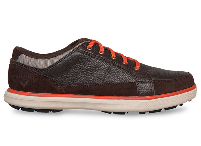 "Callaway Del Mar Sport, $100; callawaygolf.com                           This lightweight lifestyle shoe's casual look transitions easily from the street to the course. A wide platform encourages greater stability while a soft leather upper and ""Ortholite"" insert add comfort. Also included: a two year limited water-resistant warranty and a second set of fashion laces in a complementary color."