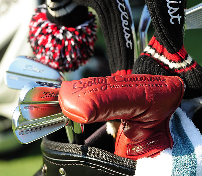 Cameron Tringale has Titleist MB Forged irons and a Scotty Cameron putter in his bag.