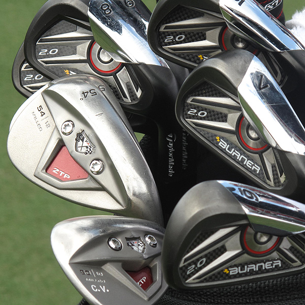 Camilo Villegas uses a custom set of TaylorMade's Burner 2.0 irons.