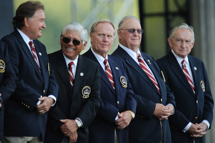 Billy Casper, 1979I. Billy Casper (above, second from right) led the U.S. to a one-sided 17-11 win at The Greenbrier. Casper, who grew up in the mellow San Diego of the '50s, ran a relaxed team accustomed to winning. He didn't have a murderers' row — no Nickalus, no Watson — and he didn't need it. Team Europe, getting used to the new dynamic, was a feuding mess, and all Casper really had to do was make out lineup cards and serve steak.Lee Trevino, 1985In 1985, Lee Trevino (second from left), as tough a competitor as golf has ever known, led the U.S. team to a shocking defeat, getting barbecued in England, 16.5-11.5. The so-called Merry Mex was affable and outgoing in public but a loner in his private life — the team pep talk was not part of his wide repertoire.Raymond Floyd, 1989In 1989, Raymond Floyd (far left) took the U.S. team to England, where the matches ended in a 14-14 tie. Floyd is a hugely underrated captain. He was intense, inspiring, passionate, organized and compulsive, more so than anybody before him and like almost everybody after him. Whether that model works or not is open to debate, but he was the first modern Ryder Cup captain.