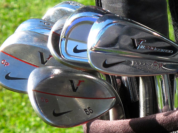 Carl Pettersson is using Nike's Pro Combo irons.