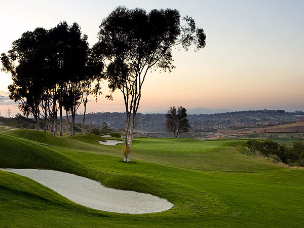 The Crossings at Carlsbad                           Carlsbad, Calif.                           6,835 yards, par 72                           Green fee: $90-$120                           760-444-1800, thecrossingsatcarlsbad.com                           Municipal courses that overlook                           the Pacific Ocean are about as                           common as civil political campaigns                           these days. Here's why: The Crossings                           was green-lighted in a 1990 public vote                           but it took another 17 years to clear                           permit hurdles. It was worth the wait.                           This Greg Nash design, a mile inland, is                           draped over heaving terrain that's                           bisected by scrub-choked canyons.                           Environmental restrictions forced a                           dozen routing changes and the result is                           some awkward transitions, but you'll love a handful of enticing holes,                           particularly the par-5 7th with its                           shallow, elevated green menaced by a                           lake, and the par-4 10th, which boasts a                           10-story drop to the fairway. There are                           muni moments here: airplane traffic and                           amusement-park din, but where else can                           you gaze over the Pacific from the 18th                           tee yet still get change from $100?